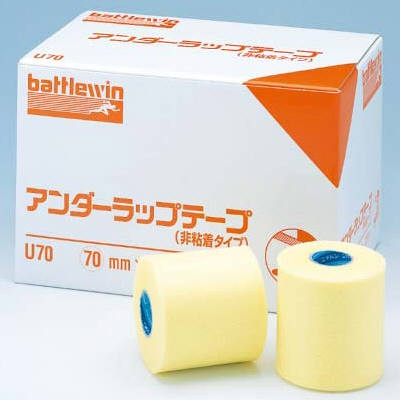 【3個セット】 ニチバン バトルウィンアンダーラップテープ(非粘着タイプ) 7cm×25m U70 1箱(12巻入)×3個セット 【正規品】