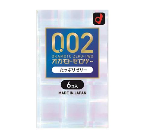 【144個セット】【1ケース分】オカモト ゼロツー 0.02ミリ たっぷりゼリー 6個入×144個セット 【正規品】