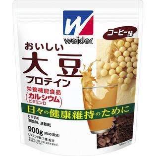 【3個セット】 森永製菓 ウィダー おいしい大豆プロテイン コーヒー味 900g×3個セット 【正規品】 ※軽減税率対応品 ウィダー
