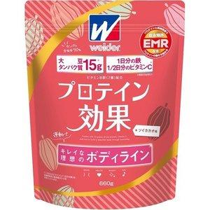 【10個セット】 ウイダー プロテイン効果 ソイカカオ味 660g ×10個セット 【正規品】 ※軽減税率対応品