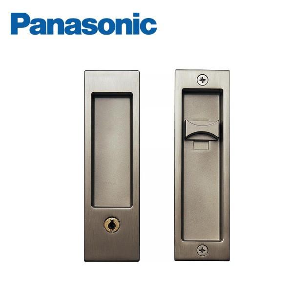 パナソニック ベリティス 内装ドア部材引手 角型引手 C1型 キー付錠/サテンシルバー(メッキ)【MJE1PC18SS】