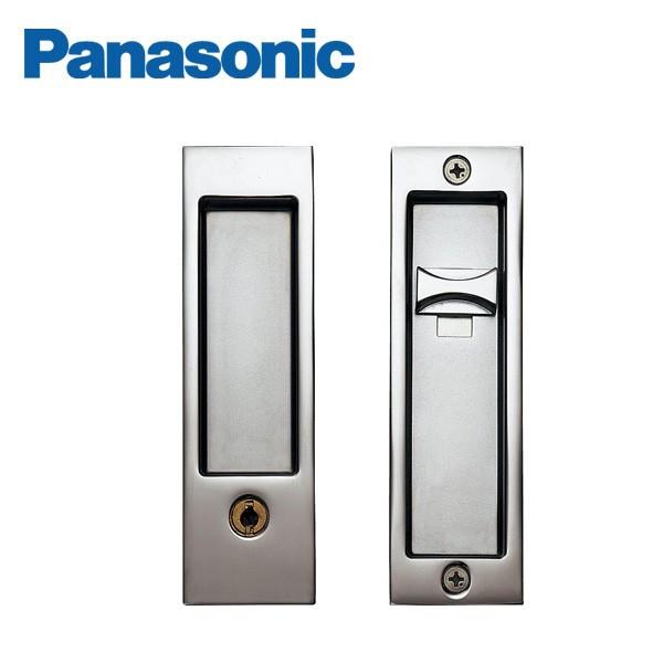 パナソニック ベリティス 内装ドア部材引手 角型引手 C1型 キー付錠/クローム【MJE1PC18CM】