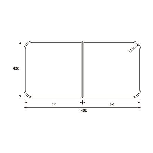 パナソニック 風呂フタ組みふた(680×1400mm)【RL9161ACC】 ※RL9161ACの代替品