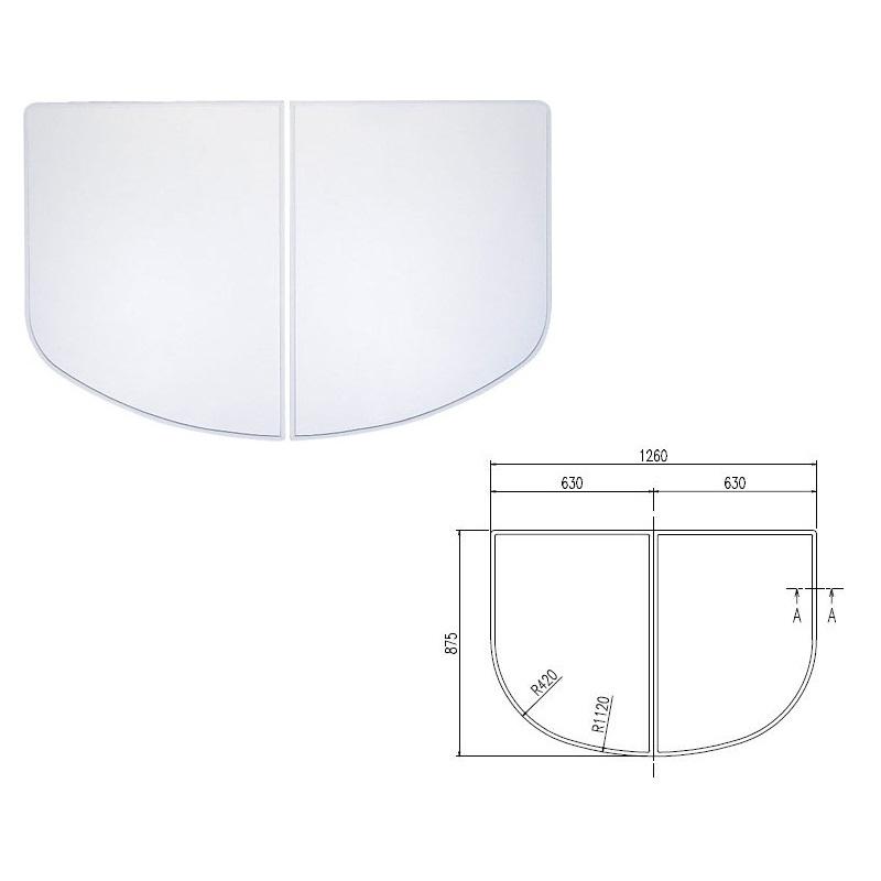 INAX LIXIL リクシル浴室オプション 風呂組フタ 【YFK-1387B(3)※】