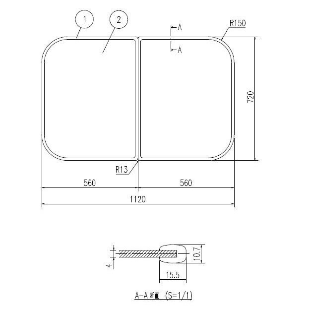 INAX LIXIL リクシル浴室オプション 風呂組フタ 【YFK-1175B(14)※】