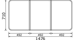 パナソニック 風呂フタ(長辺1476ミリ×短辺710ミリ:組みフタ:長方形:3枚:切り欠きなし)【GK91F04SC】※本商品はGK91F04Sの代替品