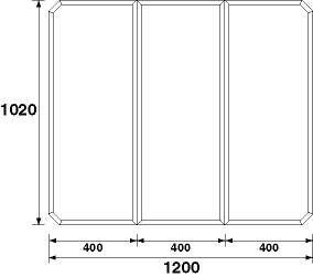 パナソニック 風呂フタ(長辺1200×短辺1020:組みフタ:長方形:3枚:切り欠きなし)【GZ965C】