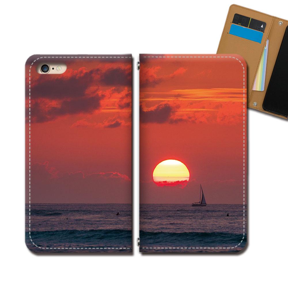 Galaxy A41 SC-41A スマホ ケース 手帳型 ベルトなし HAWAII ハワイ ダイヤモンドヘッド スマホ カバー ハワイ eb33703_01:スマホケースのショップティアラ