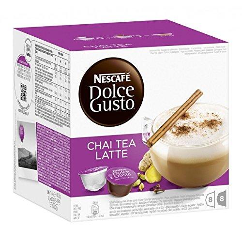 Nescafé Dolce Gusto Chai Tea Latte 32 Portions 4 x 16 Capsules Lot de 4