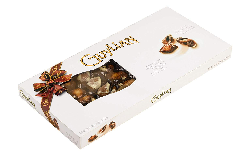 ギリアン チョコレート ギフトボックス Guylian Seashell Window BROWN トラスト GIFT 貝型 最安値に挑戦 ベルギーチョコ 海外直送品 500g お菓子 シーシェル RIBBON