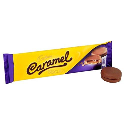 英国より直送 受賞店 Cadbury Caramel Biscuits 130g - ビスケット130グラム 格安激安 キャラメル 並行輸入品