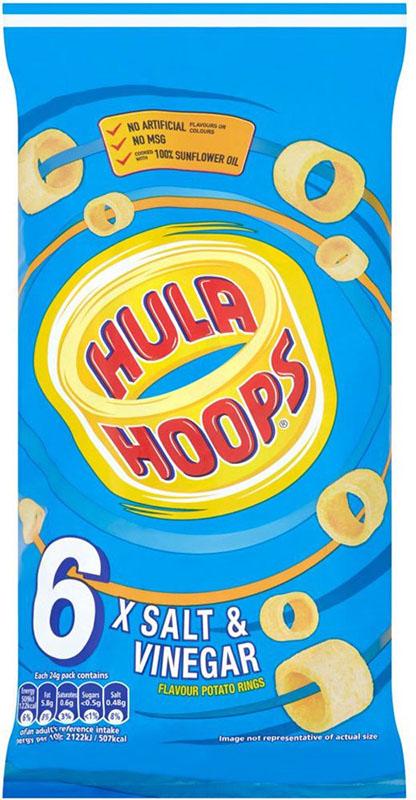 英国より直送 KP Hula Hoops - 売り込み 7X25G 7x25g Kpのフラフープ Salt お得なキャンペーンを実施中 Vinegar