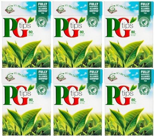 英国より直送 PG Tips 70 tea 日本産 bags x 6 ピージーティップス紅茶 TIPS boxes 6箱まとめ買い 買い物 70p入り