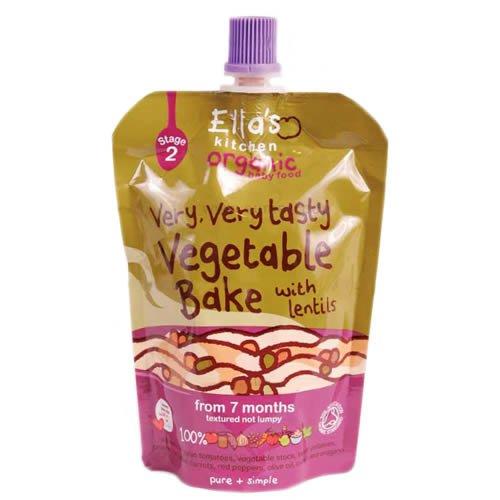 英国ブランド・有機野菜100%離乳食 『レンズ豆入り野菜ベイク』 (130gx5袋) / 無添加・無着色・GMフリー・グルテンフリー / 7か月から