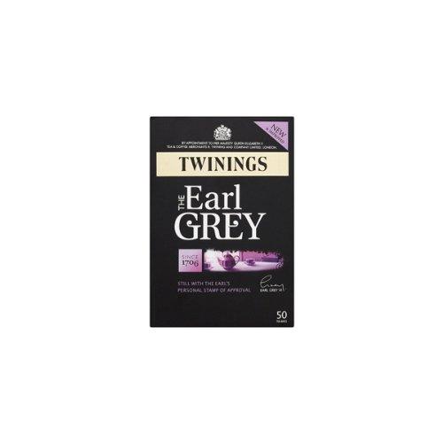 Twinings Earl Grey 50 bags x 12 トワイニング アールグレイ イギリスブレンド 英国国内専用品 ティーバック 50p入り 茶葉125g相当 12箱まとめ買い  黒紙箱入