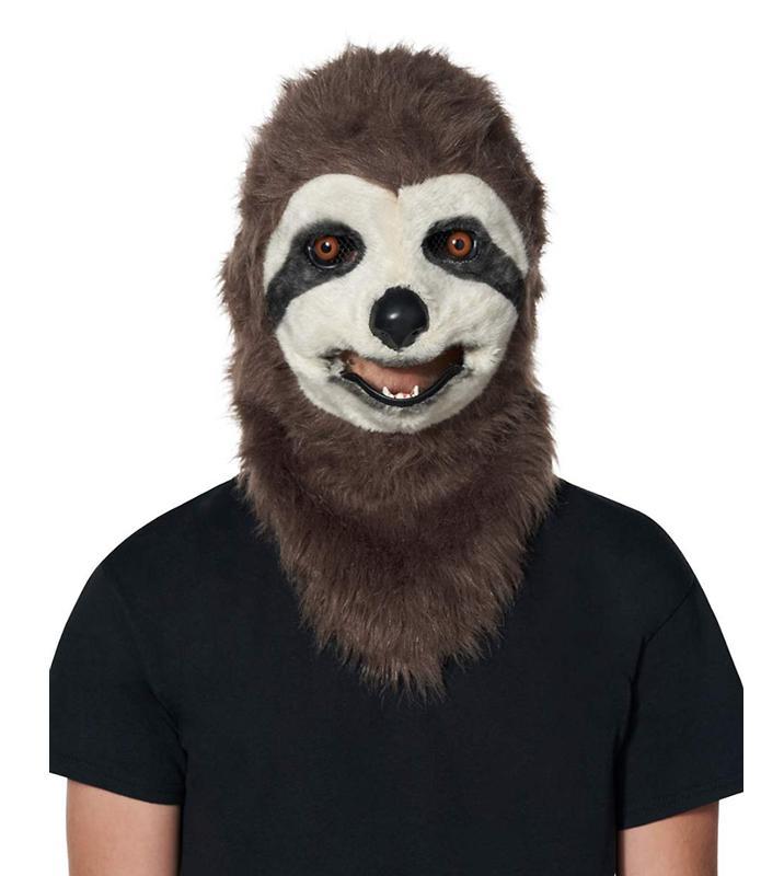 Faux Fur Sloth Moving Mouth Mask ハロウィン マスク お面 仮装 Halloween ハロウィーン おめん コスプレ パーティーグッズ イベント ホラー おばけ かぶりもの