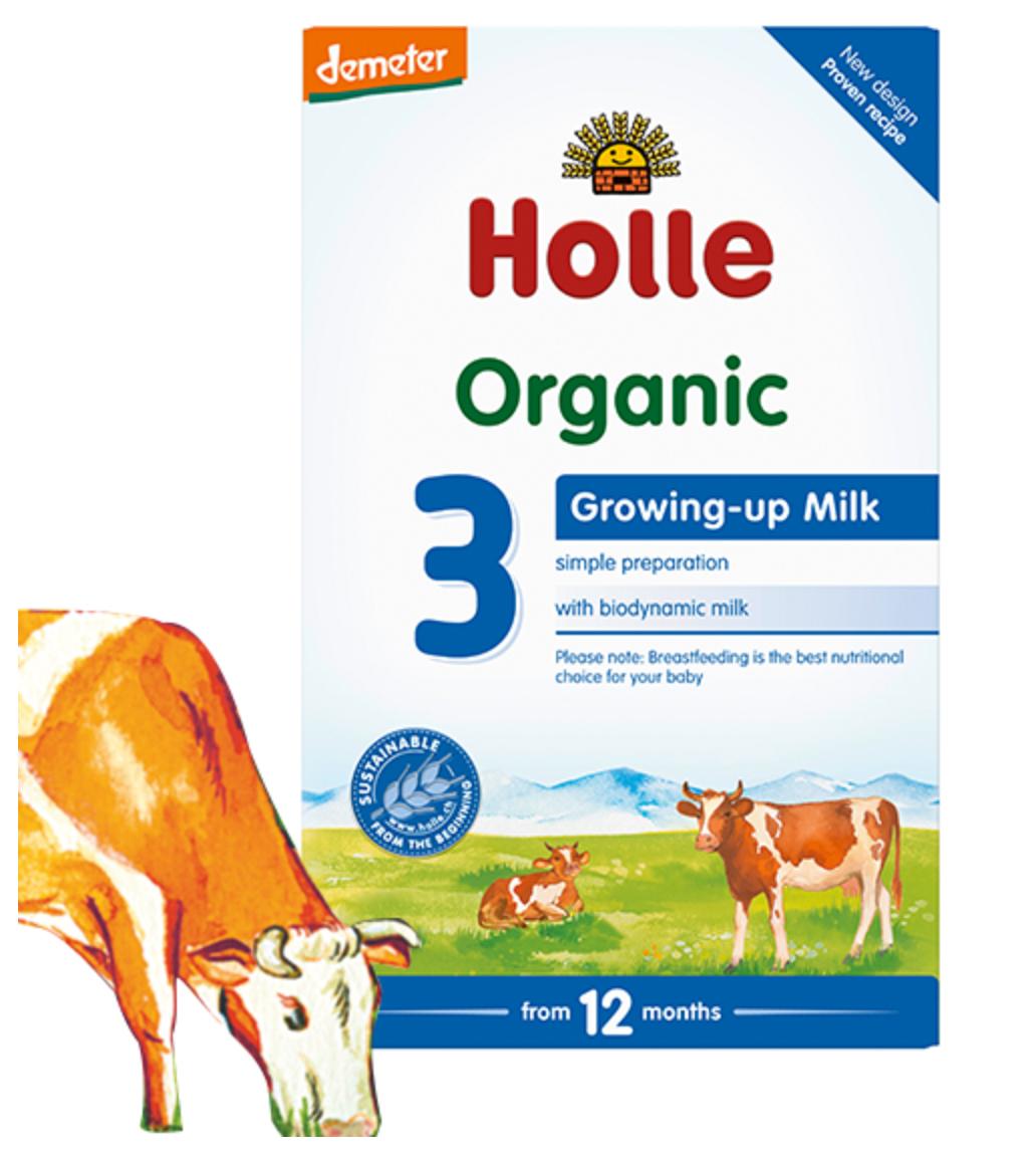 Holle Organic Growing-up Baby Milk 3 ホレ オーガニック 粉ミルク 赤ちゃんミルク ベビーミルク【生後12ヶ月から】【英国直送】