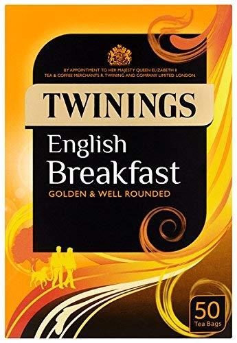 英国より直送します Twinings English Breakfast 50 tea 激安挑戦中 bags トワイニング 50ティーバッグ 紅茶 注文後の変更キャンセル返品 英国内製造 イングリッシュブレックファースト