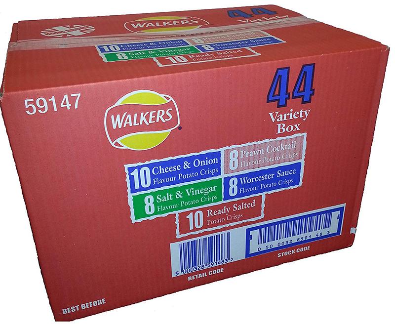 英国より直送します 激安通販販売 Walkers クリスプ 6パック バンパーボックス 44バラエティパック 商い