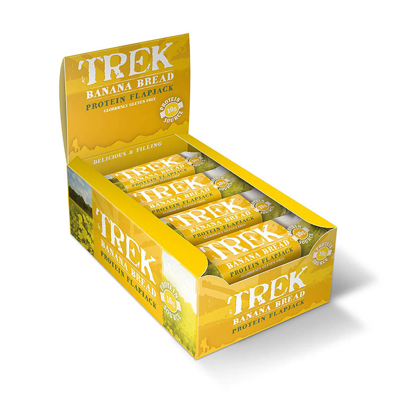 Trek Banana Bread Protein Flapjack Bar 50 g (Pack of 16)