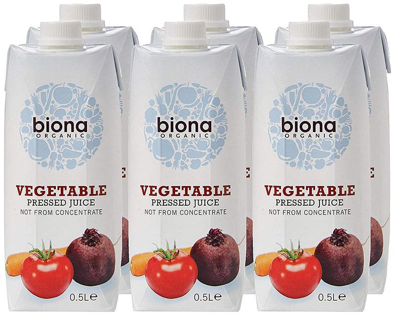 Biona Organic Vegetable Juice Pressed 0.5 L (Pack of 6)
