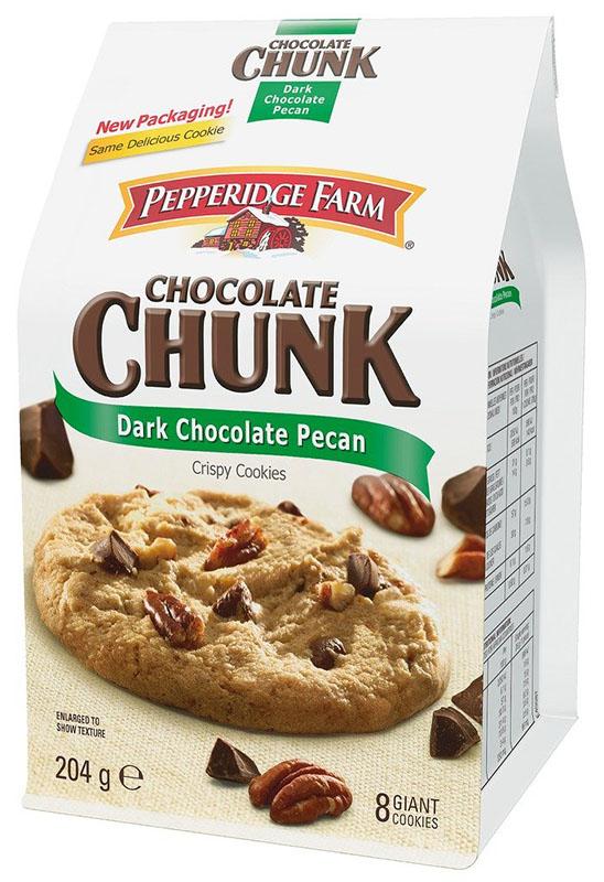 Pepperidge Farm - Chocolate Chunk - Dark Chocolate Pecan Crispy Cookies - 204g