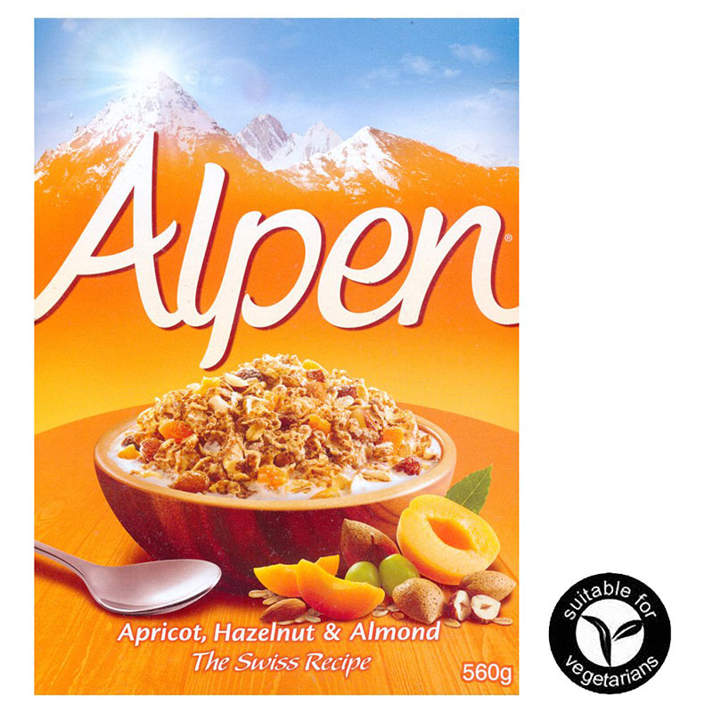 Alpen - Apricot, Hazelnut & Almond Muesli - 560g
