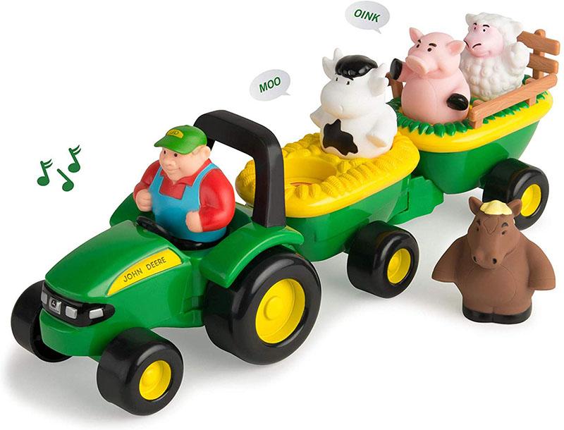 John Deere 34908 M4 Jd Hay Ride 動物 トラクター おもちゃ 子供 プレゼント