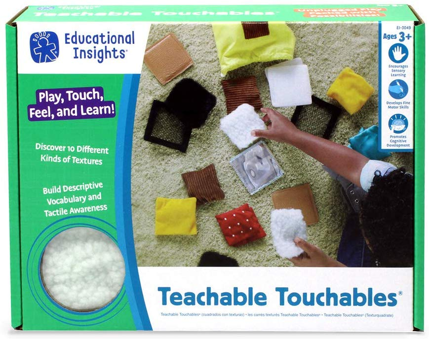 Teachable Touchables Texture Squares 触れて感じるおもちゃ テクスチャー 触覚的 3歳から