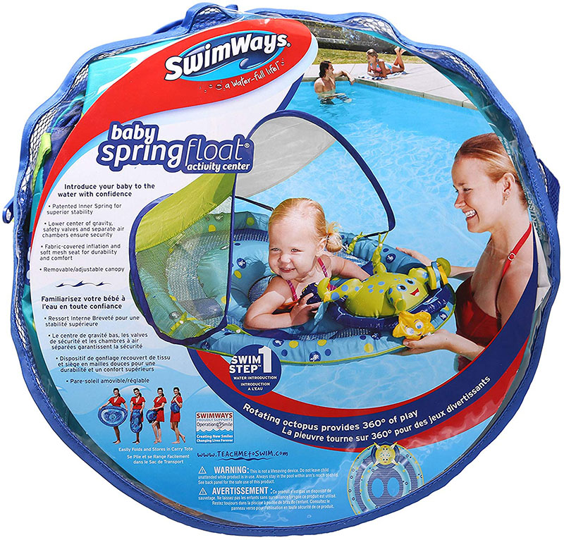赤ちゃん 浮き輪 サンシェード付き Swimways Baby Spring Float Activity Center with Canopy by Swimways