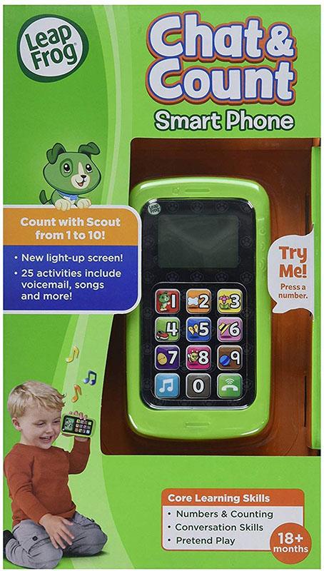 リープフロッグ スマートフォンおもちゃ Chat and Count Smart Phone 携帯電話 数字と英語のラーニング玩具 知育おもちゃ