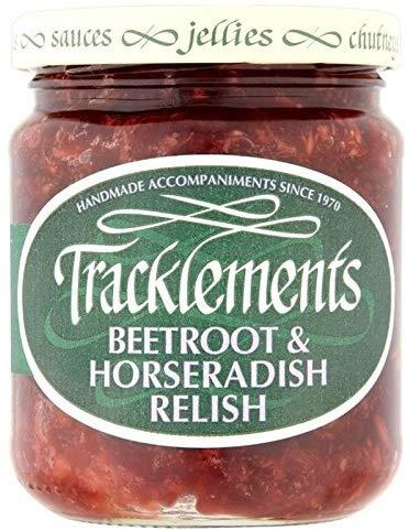 英国からお取り寄せ Tracklements Beetroot セール価格 Horseradish 220g Relish 並行輸入品 全国一律送料無料