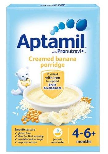 Aptamil プロバイオティクス配合・離乳食ミックス(4?6か月)125g x 6箱 『クリーミーバナナ・オートミール』 (海外直送)