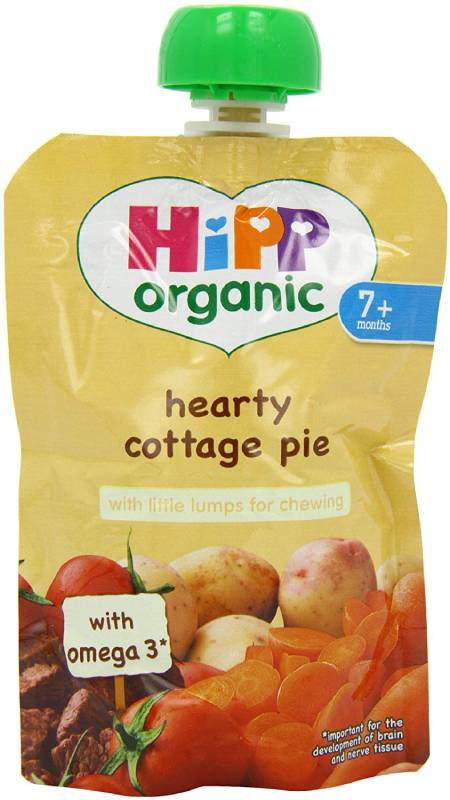Hipp Organic Hearty Cottage Pie Pouch Stage 2 from 7 Months 130 g (Pack of 2, Total 10 Pouches)