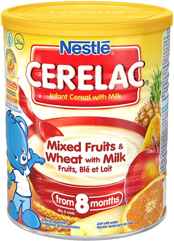 Nestle Cerelac Infant Cereals Mixed Fruits and Wheat 400 g (Pack of 4)