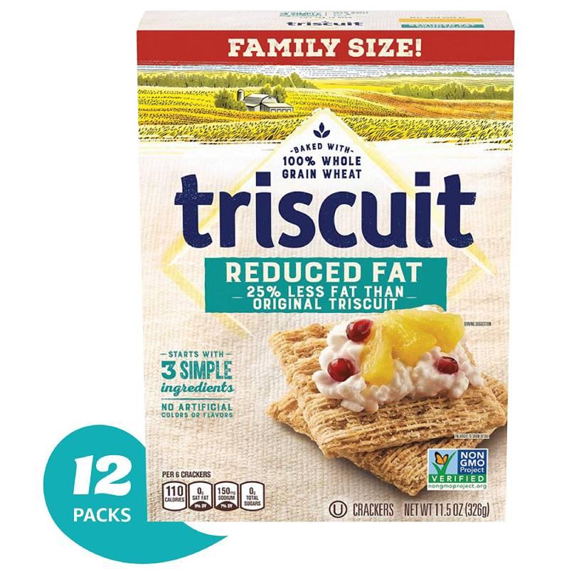 トリスケット クラッカー 12 パック Triscuit Crackers (Reduced Fat, 12-Ounce Box, Pack of 12)