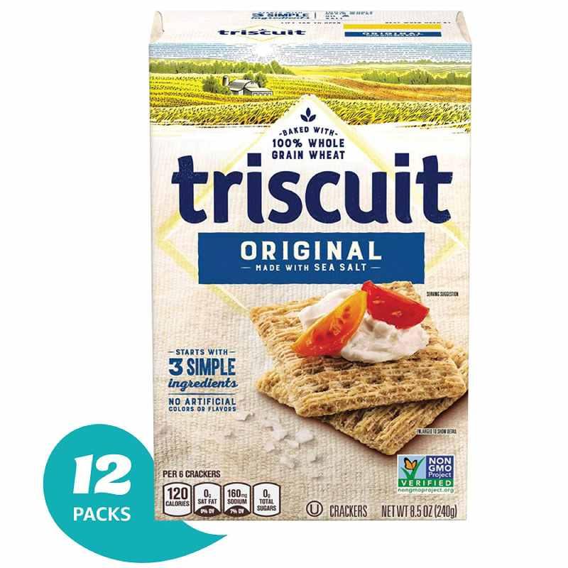 トリスケット クラッカー (元、9 オンス ボックス、12 パック) Triscuit Crackers (Original, 9-Ounce Box, Pack of 12)