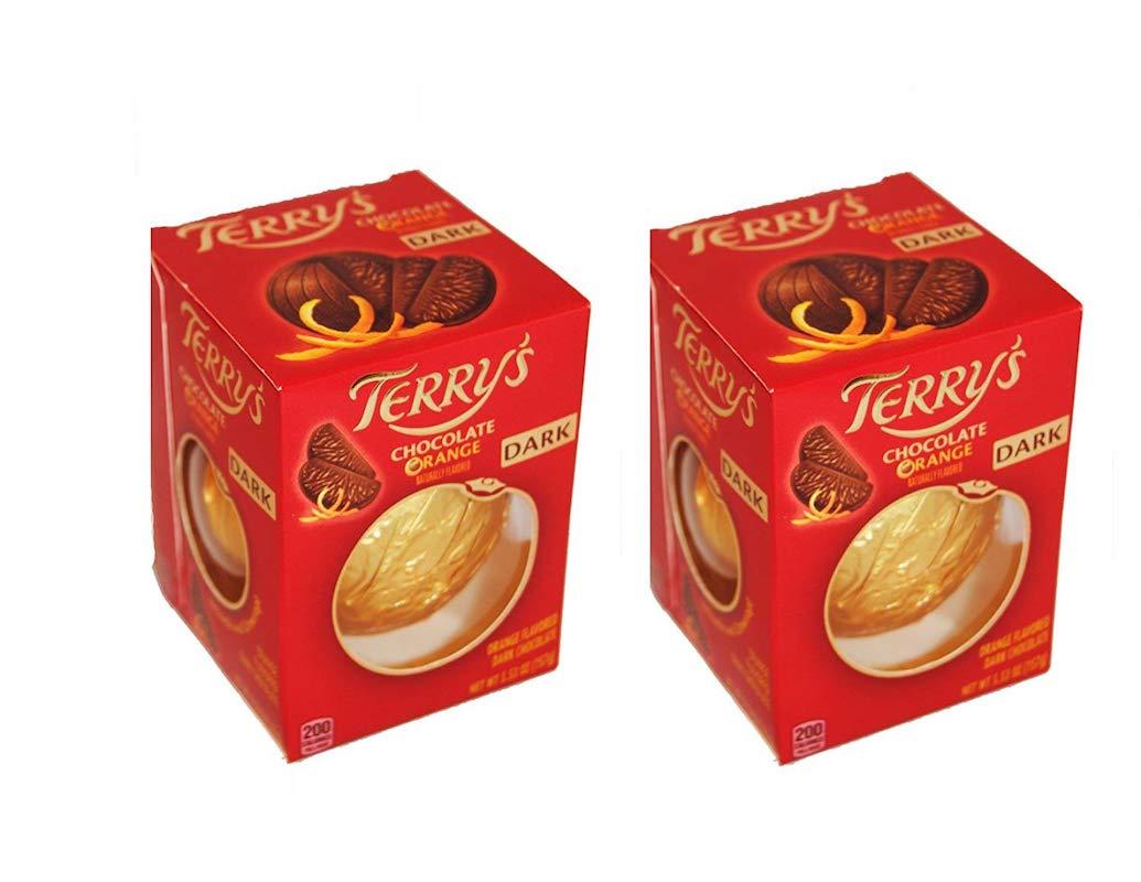 英国からお取り寄せ セール価格 テリーズ ダークチョコレート オレンジ 2個セット Terry's Chocolate Orange pack Dark 2 お土産 スーパーセール期間限定 イギリス チョコ oz. 5.53