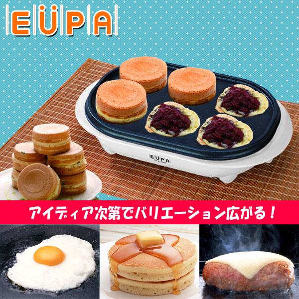 yupa EUPA微型薄煎饼厂商[TK-2136MF]氟加工零食烹调菜烤蛋糕大型烤煎鸡蛋烤饭团汉堡