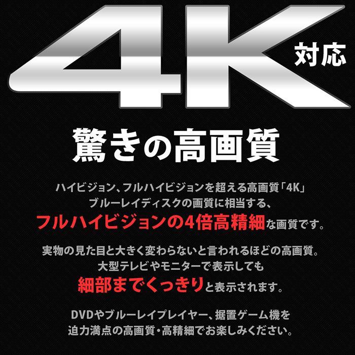 HDMIケーブル 4m 1年保証 4.0m 400cm Ver.2.0 4K対応 ハイスピードタイプ イーサネット対応 4K ハイスピード イーサネット テレビ BDレコーダー BD DVDレコーダー レコーダー テレビ TV HDMI ケーブル ハイビジョン フルハイビジョン