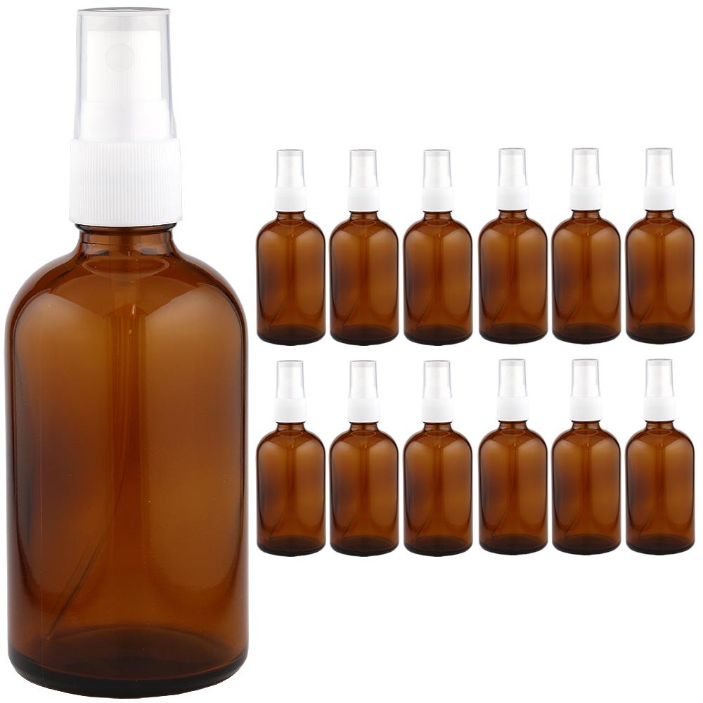 遮光ビン 遮光瓶スプレータイプ 褐色ビン茶色ビン 100ml 1ケース 12本入 スブレータイプ スプレー容器 スプレーボトル