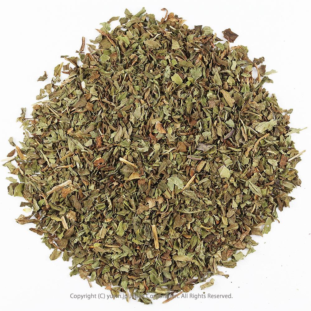 ペパーミントティーは、スーとするメントールの香りで爽快感があります ミントティーリーフ ペパーミント茶 西洋ハッカ ハーブティー ドライハーブ ハーブ茶 お茶 健康茶 茶葉 ペパーミントティー カット 50g 有機JASオーガニック認証原料100% ペパーミント茶 西洋ハッカ茶 お茶 ハーブティー 茶葉