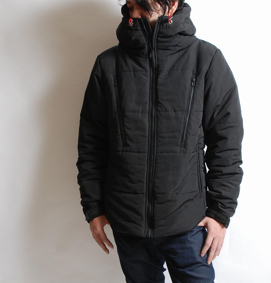HB コクーンネックジャケット ブラック×ネイビー