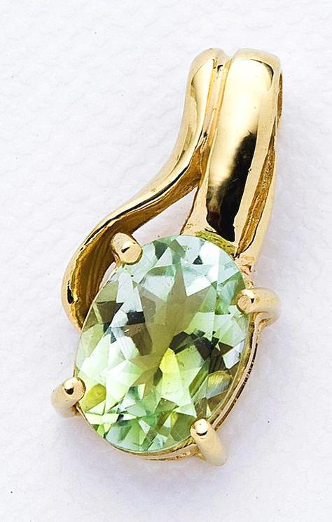 K18ゴールド グリーントルマリン ライトカラー ブラジル産 天然石ペンダントトップ 10月誕生石 送料無料