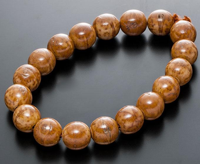 【10%割引クーポン配布中】 数珠用パーツ 鳳眼菩提樹 18玉 16mm主玉 丸玉 ビーズ 数珠手作り用 男性用数珠 念珠