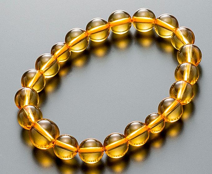数珠ブレスレット 本琥珀 《アンバー》 10ミリ玉