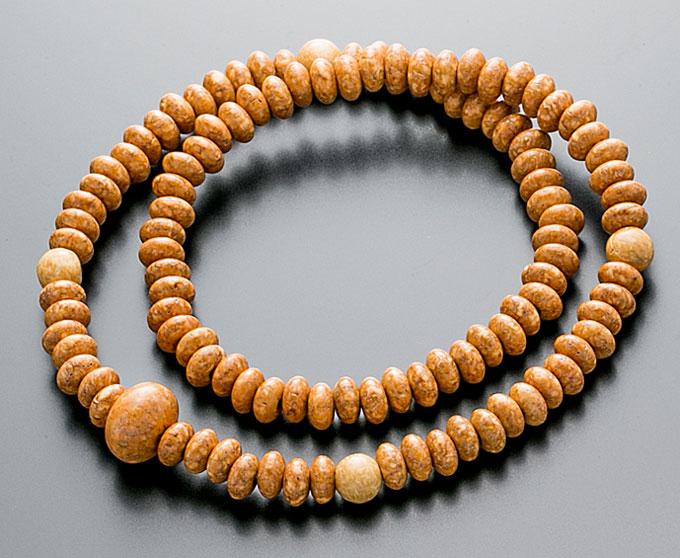 【10%割引クーポン配布中】 腕輪数珠 108玉 数珠 天竺菩提樹 共仕立 2重巻き 桐箱入