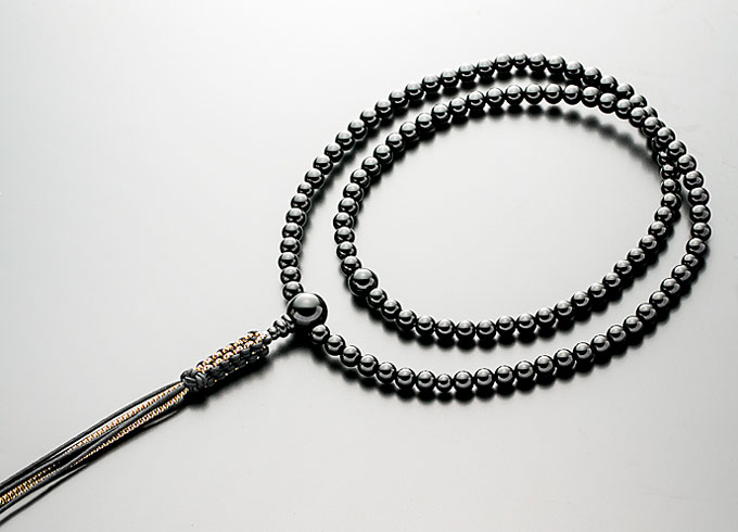 【10%割引クーポン配布中】 臨済宗 数珠 男性用 念珠 黒オニキス 尺3寸 共仕立 正絹紐房 禅宗数珠