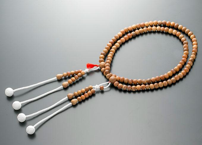 【10%割引クーポン配布中】 真言宗数珠 男性用 念珠 白檀 《 びゃくだん 》正絹かがり梵天房