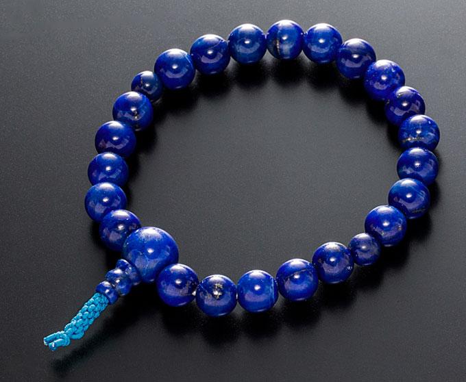 腕輪数珠(念珠) ラピスラズリ 《瑠璃石》 共仕立 8ミリ